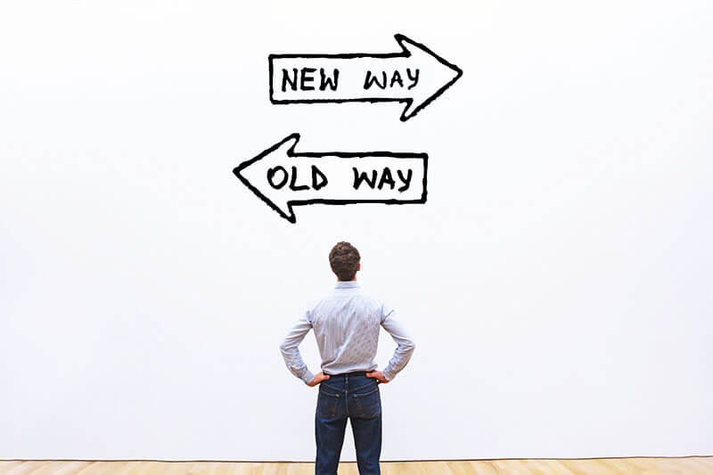 Change Management - Old way new way